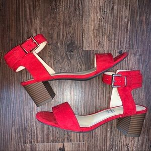 Liz Claiborne Red Eclipse Block Heels
